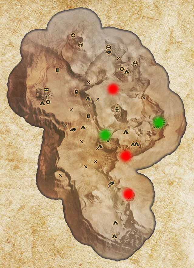 Two Logging Stands in the Western Approach have been marked with green color - Quarries and logging stands - Quest list - Dragon Age: Inquisition Game Guide & Walkthrough