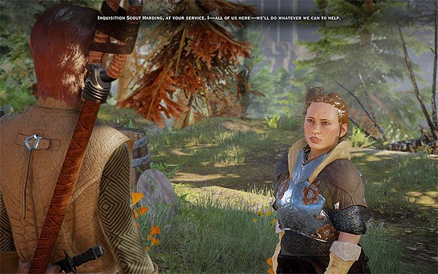 Talk to Harding - The Threat Remains - Main storyline quests (The Path of the Inquisitor) - Dragon Age: Inquisition Game Guide & Walkthrough