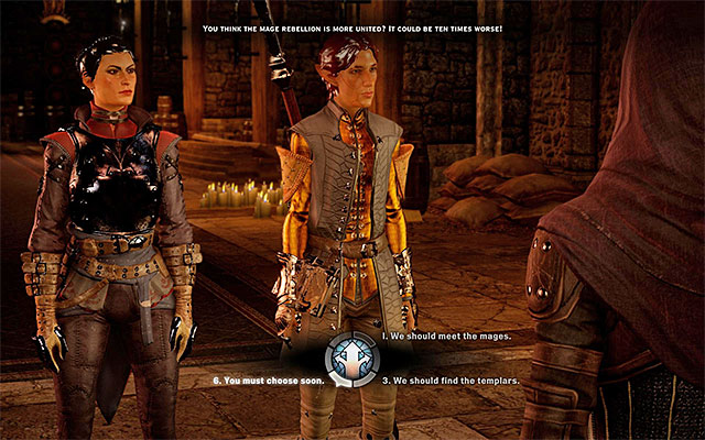 You can listen to the counselors, but you do not need to follow their suggestions - The Threat Remains - Main storyline quests (The Path of the Inquisitor) - Dragon Age: Inquisition Game Guide & Walkthrough