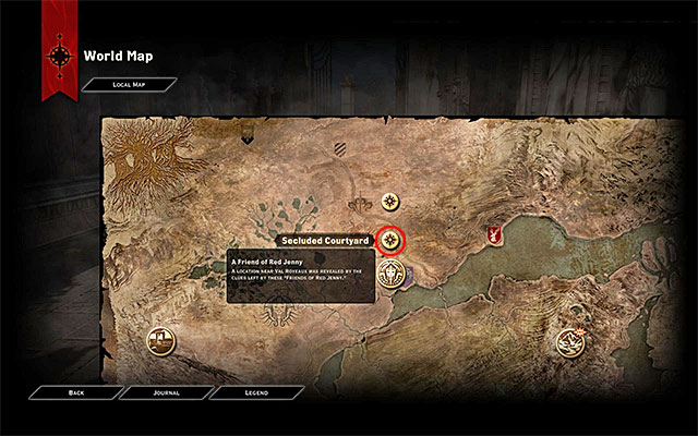 Obtaining all three handkerchiefs unlocks, on the world map, a location connected with Val Royeaux - A Friend of Red Jenny - new party member - The Inner Circle (companion quests) - Dragon Age: Inquisition Game Guide & Walkthrough