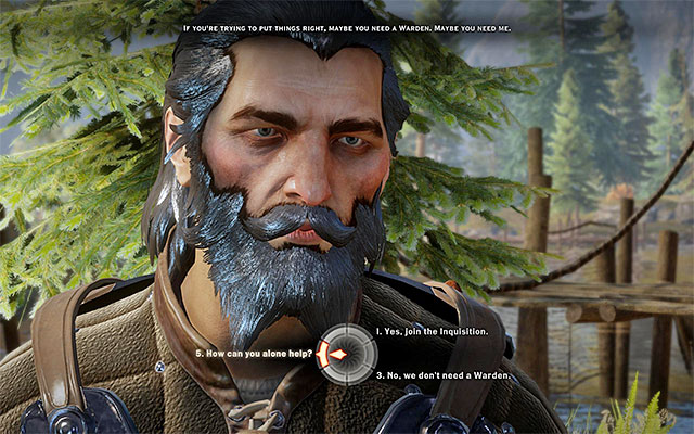 Offer Blackwall to join the party - The Lone Warden - new party member - The Inner Circle (companion quests) - Dragon Age: Inquisition Game Guide & Walkthrough