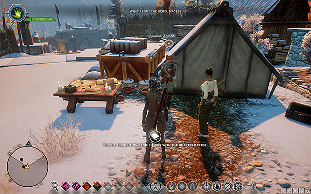 The quartermaster - Havens Best and Brightest - Side quests - Haven - Dragon Age: Inquisition Game Guide & Walkthrough