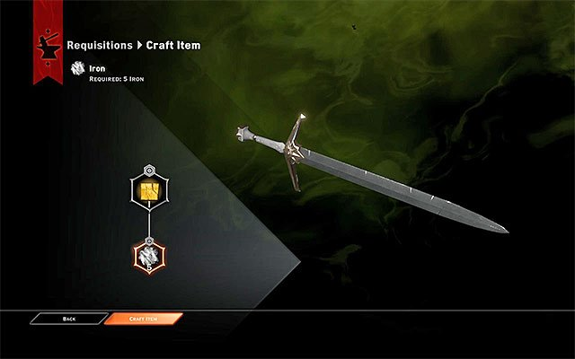 Realize the commission - Requisition for Weapons - Side quests - Haven - Dragon Age: Inquisition Game Guide & Walkthrough