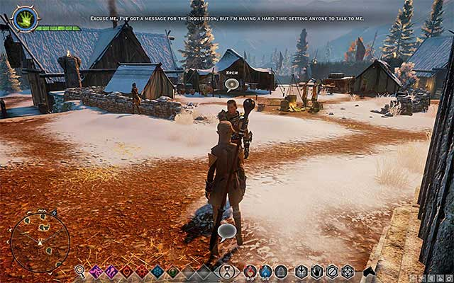 You can find the messenger in the encampment - The Captain of the Chargers - new party member - The Inner Circle (companion quests) - Dragon Age: Inquisition Game Guide & Walkthrough