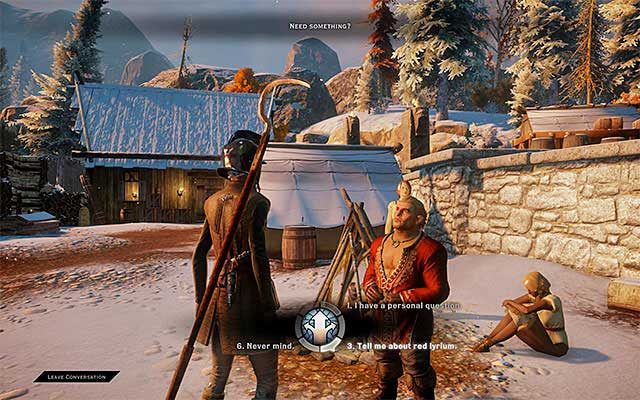 During the conversation with Varric, raise the topic of the red lyrium - Seeing Red - The Inner Circle (companion quests) - Dragon Age: Inquisition Game Guide & Walkthrough