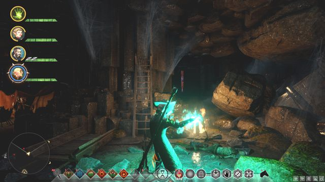 The tunnel in the first cave - Keeping the Darkspawn Down - Side quests - The Storm Coast - Dragon Age: Inquisition Game Guide & Walkthrough