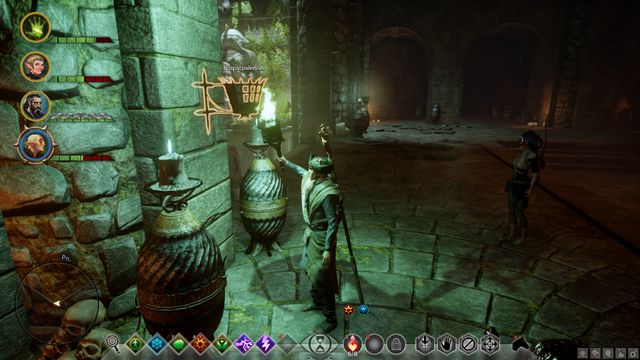 One of the torches that you need to light - The Knights Tomb - Side Quests - Emerald Graves - Dragon Age: Inquisition Game Guide & Walkthrough