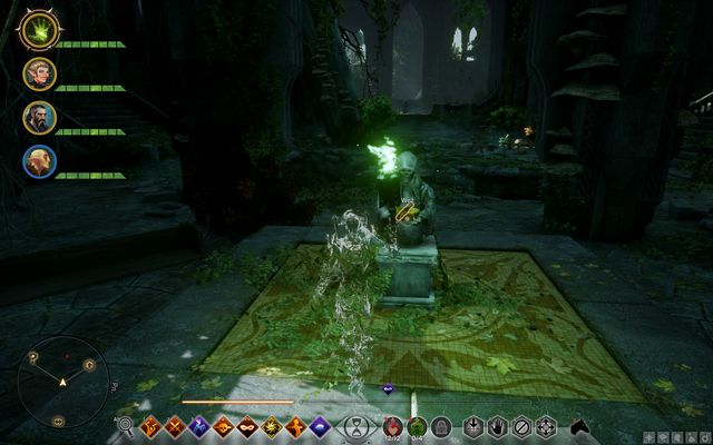 The first altar - activate it with the Veilfire in your hand - Rumors of the Sulevin Blade / Ruined Blade - Side quests - Emprise du Lion - Dragon Age: Inquisition Game Guide & Walkthrough