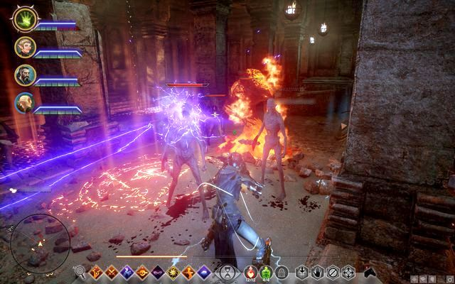 You encounter many enemies in the chambers - The Fire Captured - Side quests - The Forbidden Oasis - Dragon Age: Inquisition Game Guide & Walkthrough
