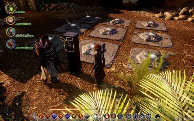 The puzzle with plates. - On Ameridans Trail - The Frostback Basin - Jaws of Hakkon DLC - Dragon Age: Inquisition Game Guide & Walkthrough