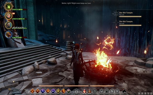 Bonfires will keep you warm. - Ameridans End - The Frostback Basin - Jaws of Hakkon DLC - Dragon Age: Inquisition Game Guide & Walkthrough