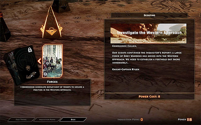 A pawn on the map, connected to the Western Approach - Here Lies the Abyss - Main storyline quests (The Path of the Inquisitor) - Dragon Age: Inquisition Game Guide & Walkthrough