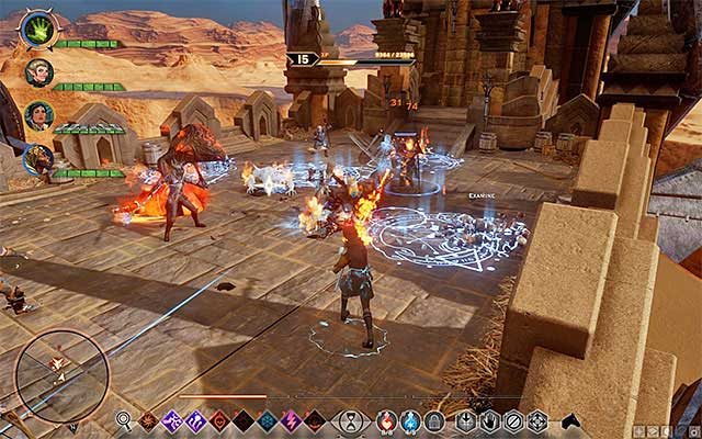 Quickly eliminate the mage guards. - Here Lies the Abyss - Main storyline quests (The Path of the Inquisitor) - Dragon Age: Inquisition Game Guide & Walkthrough