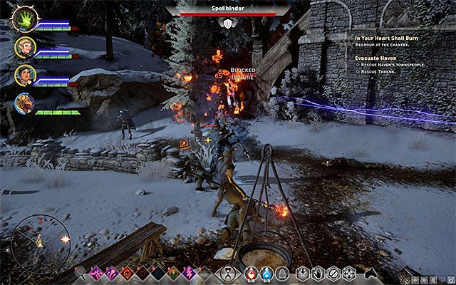 You can find Threnn next to the chantry building - In Your Heart Shall Burn - Main storyline quests (The Path of the Inquisitor) - Dragon Age: Inquisition Game Guide & Walkthrough