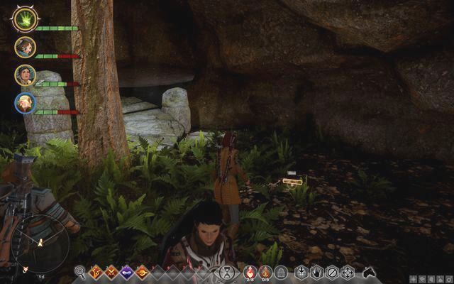 The cave map in the cave - Map of Farmland Cave - Side quests - The Hinterlands - Dragon Age: Inquisition Game Guide & Walkthrough
