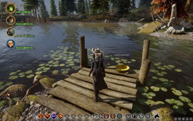 The golden bowl on the lakeside - A Spirit in the Lake - Side quests - The Hinterlands - Dragon Age: Inquisition Game Guide & Walkthrough