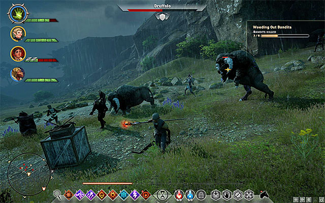 You can find drufalloes, e.g. at the Crestwood farm - Longbow Requisition in Crestwood - Side Quests - Crestwood - Dragon Age: Inquisition Game Guide & Walkthrough