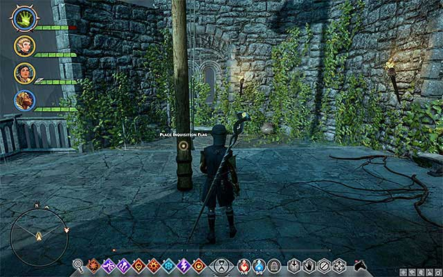The spot to set the flag - Capturing Caer Bronach - Side Quests - Crestwood - Dragon Age: Inquisition Game Guide & Walkthrough