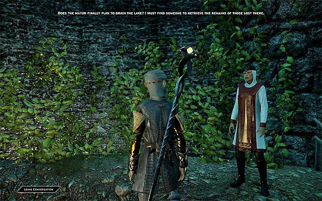 You can find Sister Vaughn on the hill - Homecoming - Side Quests - Crestwood - Dragon Age: Inquisition Game Guide & Walkthrough