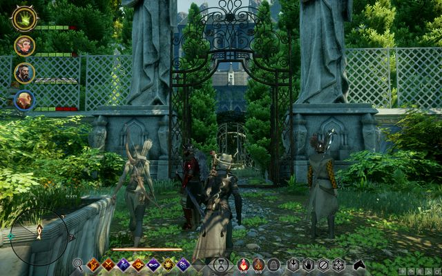 The entrance to Villa Maurel - Corrupt General - Side Quests - Emerald Graves - Dragon Age: Inquisition Game Guide & Walkthrough