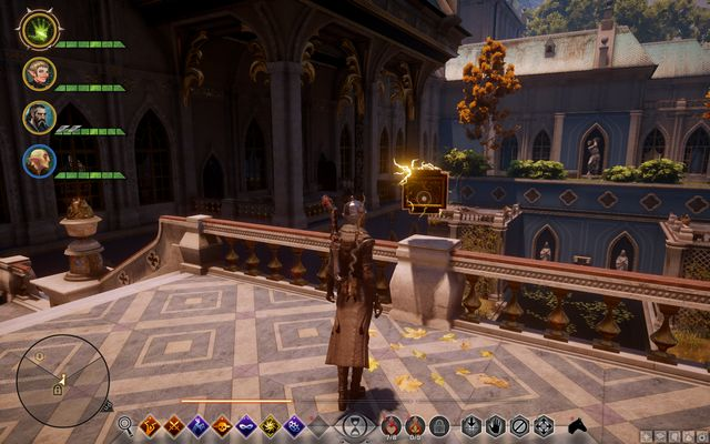 The reward on the balcony - Chateau dOnterre - Side Quests - Emerald Graves - Dragon Age: Inquisition Game Guide & Walkthrough