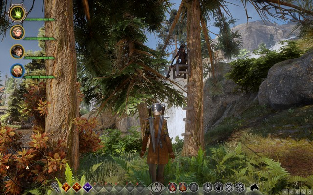 The corpse on the tree - Map to Waterfall - Side quests - The Hinterlands - Dragon Age: Inquisition Game Guide & Walkthrough