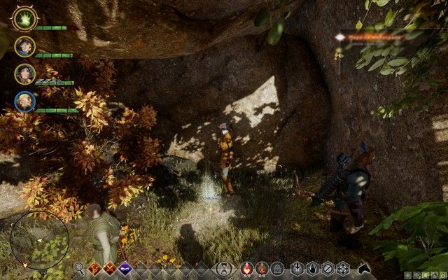 The treasure behind the waterfall - Map to Waterfall - Side quests - The Hinterlands - Dragon Age: Inquisition Game Guide & Walkthrough