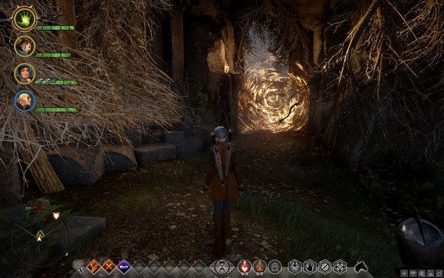 The entrance to the cave of the apostates - Apostates in Witchforest - Side quests - The Hinterlands - Dragon Age: Inquisition Game Guide & Walkthrough