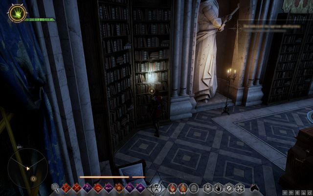 The bookshelf with the book that opens the passage - Wicked Eyes and Wicked Hearts - Main storyline quests (The Path of the Inquisitor) - Dragon Age: Inquisition Game Guide & Walkthrough