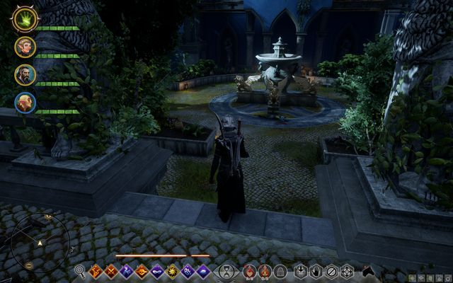 The fountain in front of the Servants Quarters - Wicked Eyes and Wicked Hearts - Main storyline quests (The Path of the Inquisitor) - Dragon Age: Inquisition Game Guide & Walkthrough