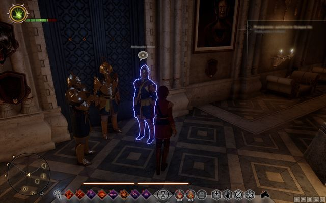 The guards in front of the Trophy Room - Wicked Eyes and Wicked Hearts - Main storyline quests (The Path of the Inquisitor) - Dragon Age: Inquisition Game Guide & Walkthrough