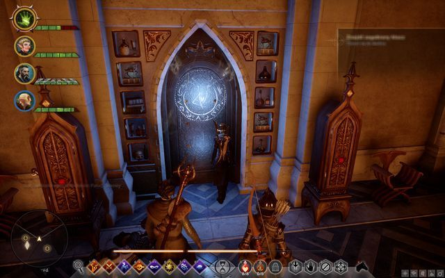 An example door that requires a halla statuette - Wicked Eyes and Wicked Hearts - Main storyline quests (The Path of the Inquisitor) - Dragon Age: Inquisition Game Guide & Walkthrough