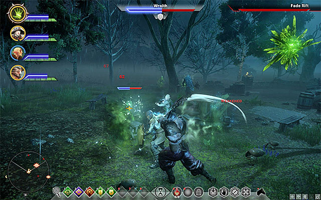 Use warriors to lure the opponents away from your archers and mages in the party. - Warriors on the battlefield in Dragon Age Inquisition - Combat - Dragon Age: Inquisition Game Guide & Walkthrough