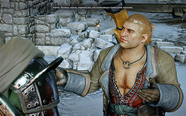 Varrik is the first rogue party member, who has his own weapon - Rogues on the battlefield in Dragon Age Inquisition - Combat - Dragon Age: Inquisition Game Guide & Walkthrough
