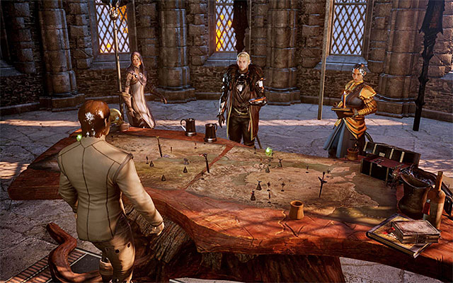 The war room at Skyhold - The War Room in Dragon Age Inquisition - Crafting - Dragon Age: Inquisition Game Guide & Walkthrough