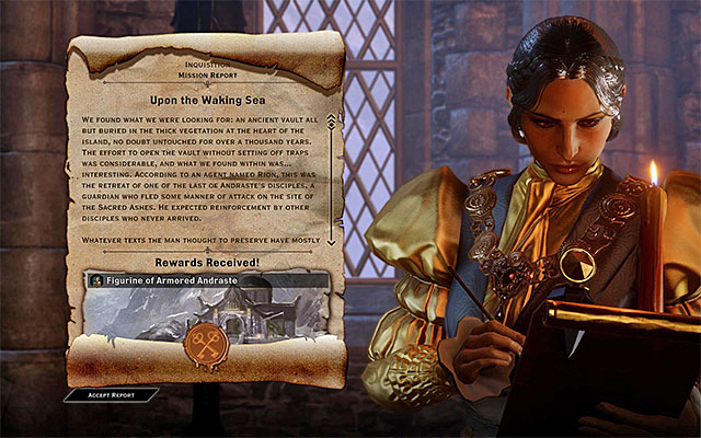 An example report screen - The War Room in Dragon Age Inquisition - Crafting - Dragon Age: Inquisition Game Guide & Walkthrough