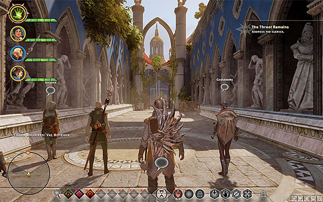 You visit Val Royeaux during one of the main quests, but it is a good idea to return here later into the game - Preliminary information about Val Royeaux - Val Royeaux - Dragon Age: Inquisition Game Guide & Walkthrough