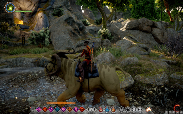 One of the unique mounts - its size ensures it with quite a resistance - Mounts in Dragon Age Inquisition - Exploration of the game world - Dragon Age: Inquisition Game Guide & Walkthrough