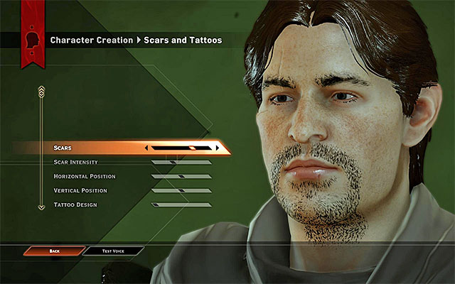 One of the creation windows - Appearance creator - Character creation - Dragon Age: Inquisition Game Guide & Walkthrough