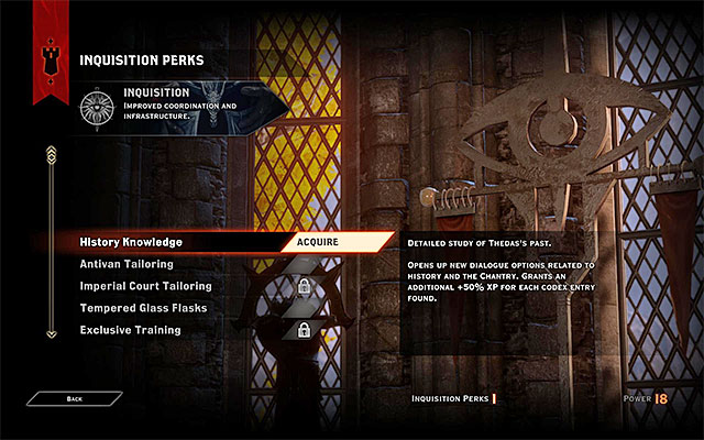 You should consider each decision to spend Inquisition Perks - Inquisition Perks - Character development - Dragon Age: Inquisition Game Guide & Walkthrough