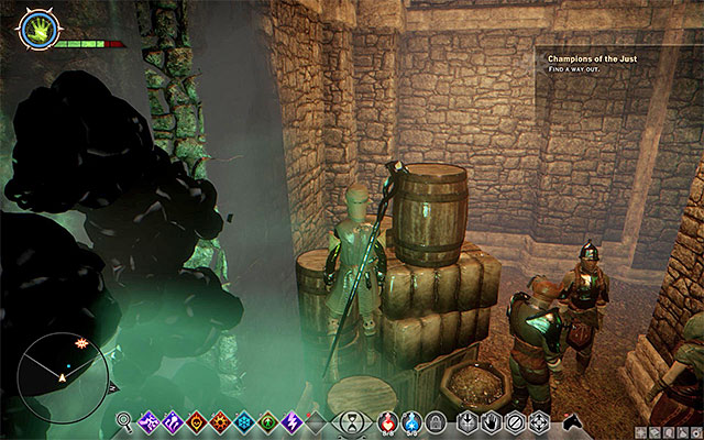 Crossing the chamber with the flames is less problematic than it might seem at first - Champions of the Just (siding with templars) - Main storyline quests (The Path of the Inquisitor) - Dragon Age: Inquisition Game Guide & Walkthrough