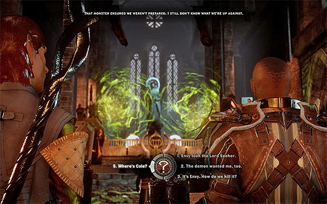 Talk to Barris before you head out to find the veterans and the lyrium cache - Champions of the Just (siding with templars) - Main storyline quests (The Path of the Inquisitor) - Dragon Age: Inquisition Game Guide & Walkthrough