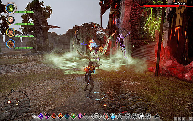 The boss successful AoE attacks may paralyze your party, for a moment - avoid such situations. - Champions of the Just (siding with templars) - Main storyline quests (The Path of the Inquisitor) - Dragon Age: Inquisition Game Guide & Walkthrough