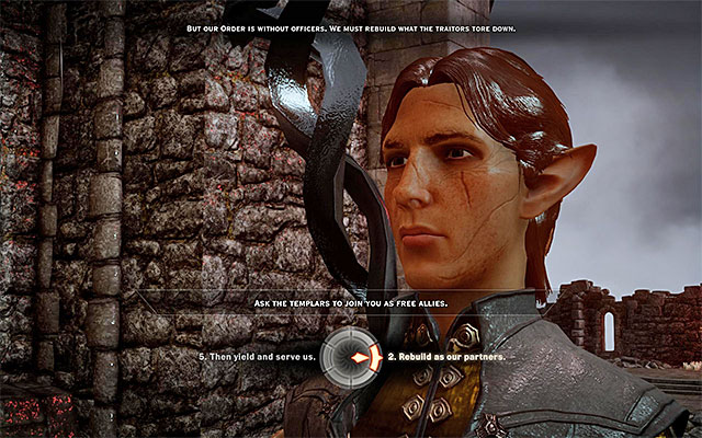 Try to leave the arena and you will meet the Templars - Champions of the Just (siding with templars) - Main storyline quests (The Path of the Inquisitor) - Dragon Age: Inquisition Game Guide & Walkthrough
