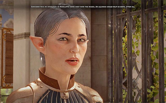 Fiona is much more amiable, towards the party, than Lucius - In Hushed Whispers (siding with mages) - Main storyline quests (The Path of the Inquisitor) - Dragon Age: Inquisition Game Guide & Walkthrough