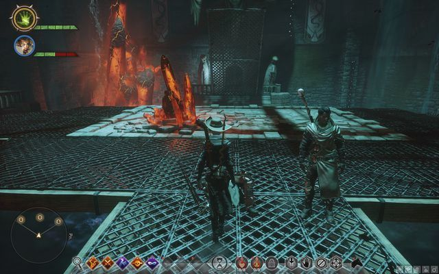 The upper fork - In Hushed Whispers (siding with mages) - Main storyline quests (The Path of the Inquisitor) - Dragon Age: Inquisition Game Guide & Walkthrough