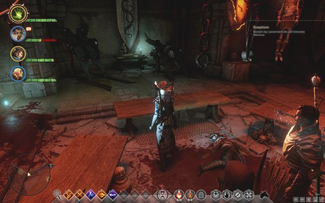 The key on the floor of the torture chamber, where Leliana is being kept - In Hushed Whispers (siding with mages) - Main storyline quests (The Path of the Inquisitor) - Dragon Age: Inquisition Game Guide & Walkthrough