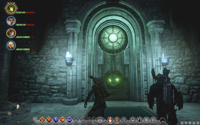 The door to the Alexiuss chamber - In Hushed Whispers (siding with mages) - Main storyline quests (The Path of the Inquisitor) - Dragon Age: Inquisition Game Guide & Walkthrough