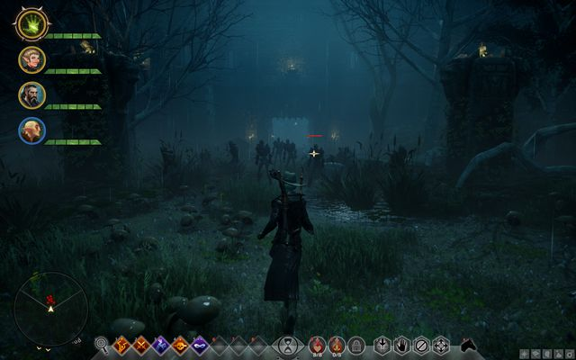 The undead in front of the castle entrance - Lost Souls - Side quests - The Fallow Mire - Dragon Age: Inquisition Game Guide & Walkthrough