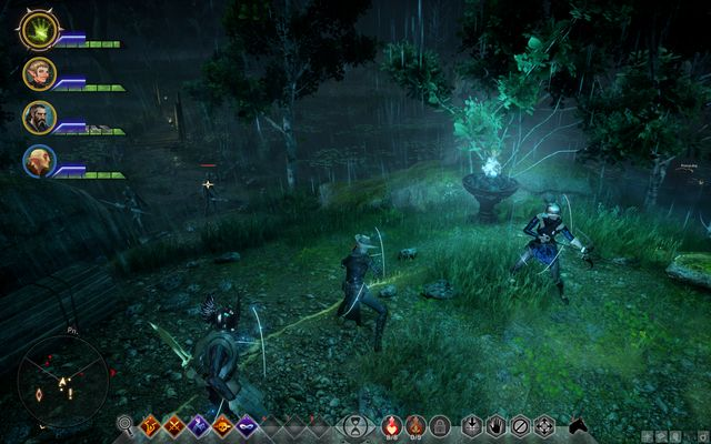 After you light a beacon, you will be attacked by demons - Beneath the Mire - Side quests - The Fallow Mire - Dragon Age: Inquisition Game Guide & Walkthrough